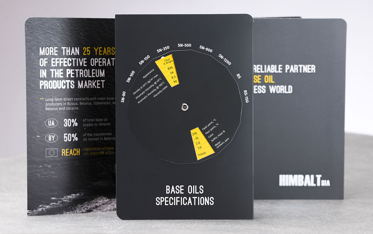 HIMBALT booklet and handbook. Base oil specifications.