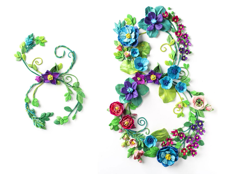 Пластилиновый мультик. Лепка из пластилина. Цветы. 8 марта. Открытка ROYAL ART.