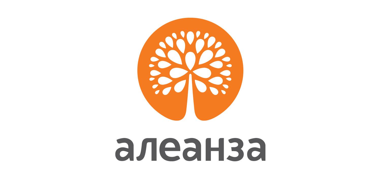 ALEANZA logo font design.