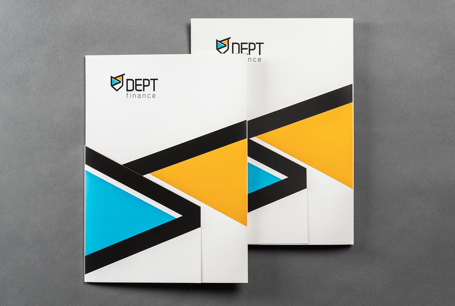 Corporate folder design for financial company DEPT Finance