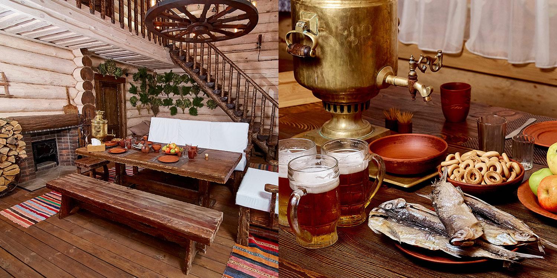 Чайная церемония и настоящее славянское застолье в бане «Сварожич».