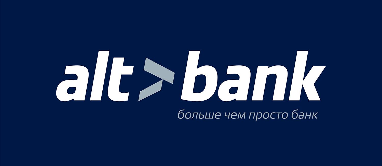 Логотип Altbank. Альтбанк больше чем просто банк. Слоган банка.