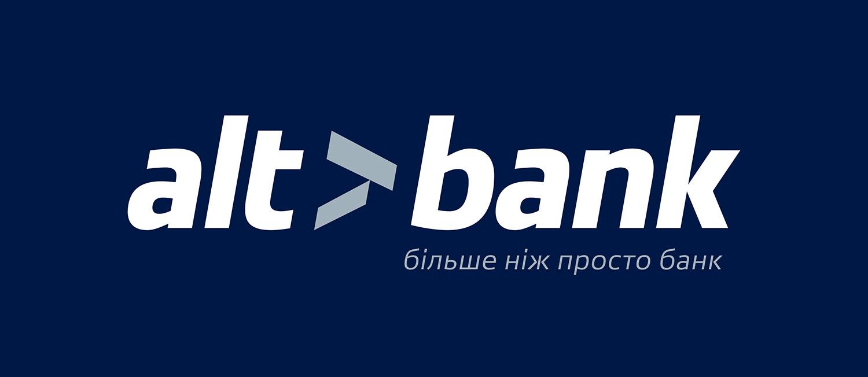 Логотип Altbank. Альтбанк більше ніж просто банк. Слоган банку.