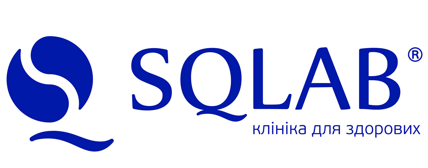 SQLAB clinic logo. Clinic for healthy people.