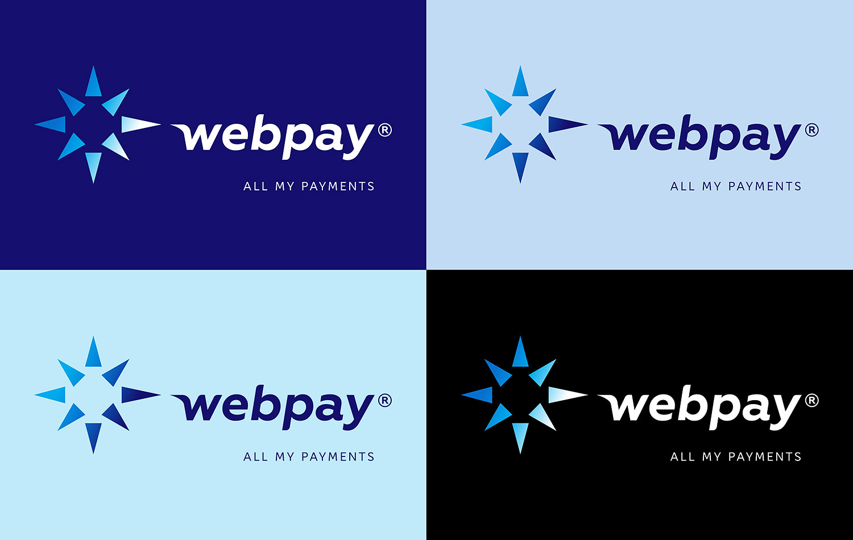 Webpay online payment system logo.