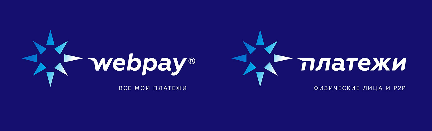Webpay Internet payment service logo. P2P payments by individuals.