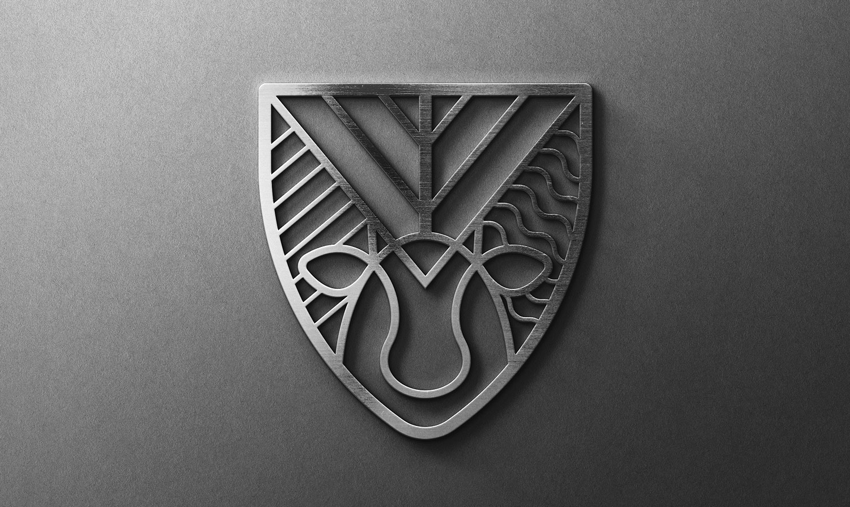 Герб з металу. Монохромна версія. Сімейний аграрний бізнес СФГ «Віталія».