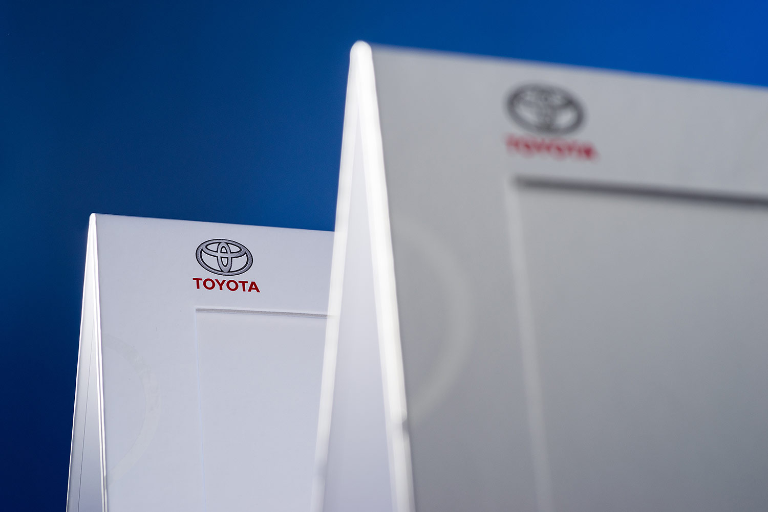 Сardboard photo frames with logo TOYOTA