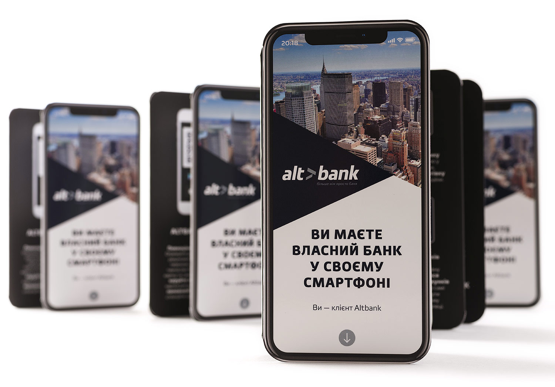 Altbank smartphone booklet.