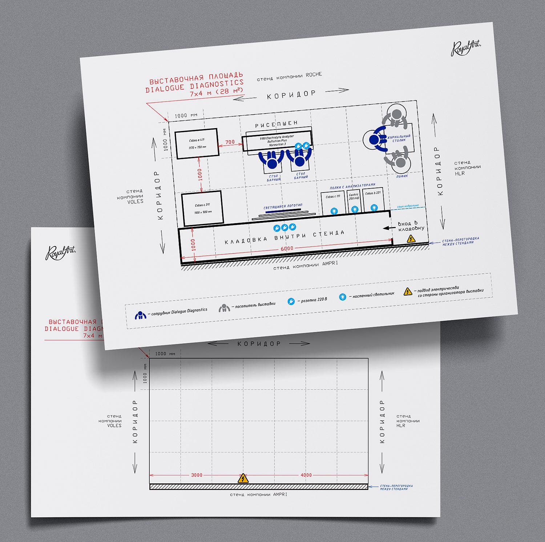 Разработка дизайна выставочного стенда для медицинской выставки.