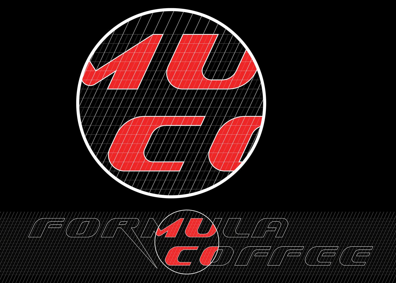 Drawing a logo on a modular grid. The dynamic Formula Coffee logo.