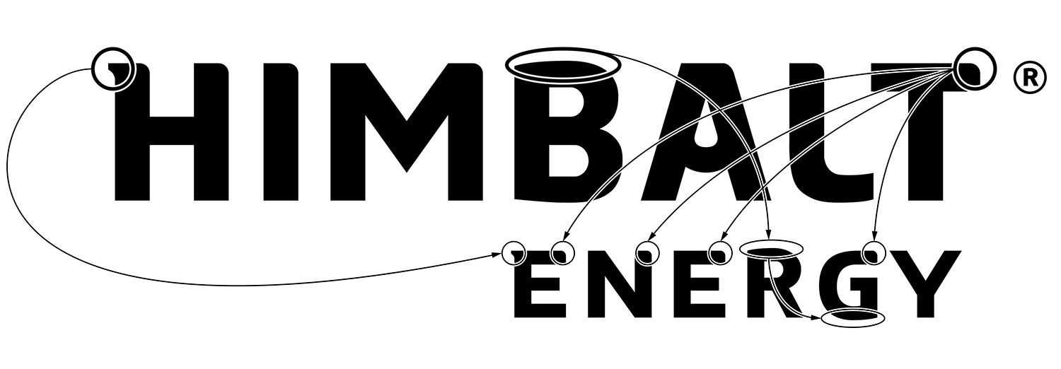 The font design in the Himbalt Energy logo.