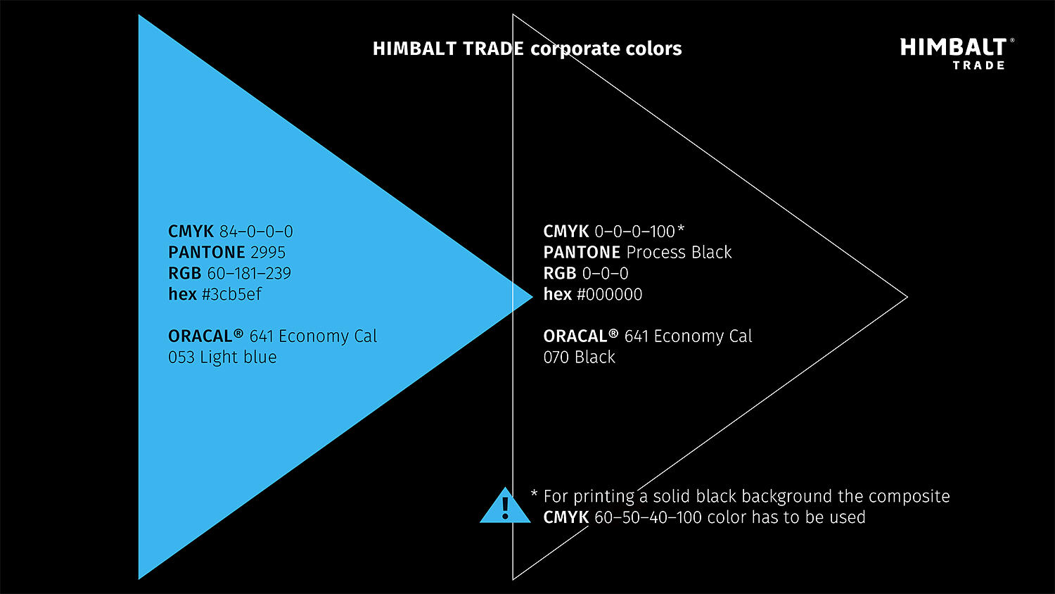 Corporate colors of the Himbalt Trade petroleum products transporting company.
