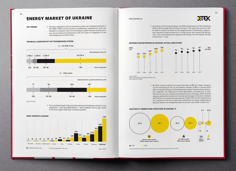 Energy market of Ukraine. Infographics. Ukraine Country Profile 2019 book.