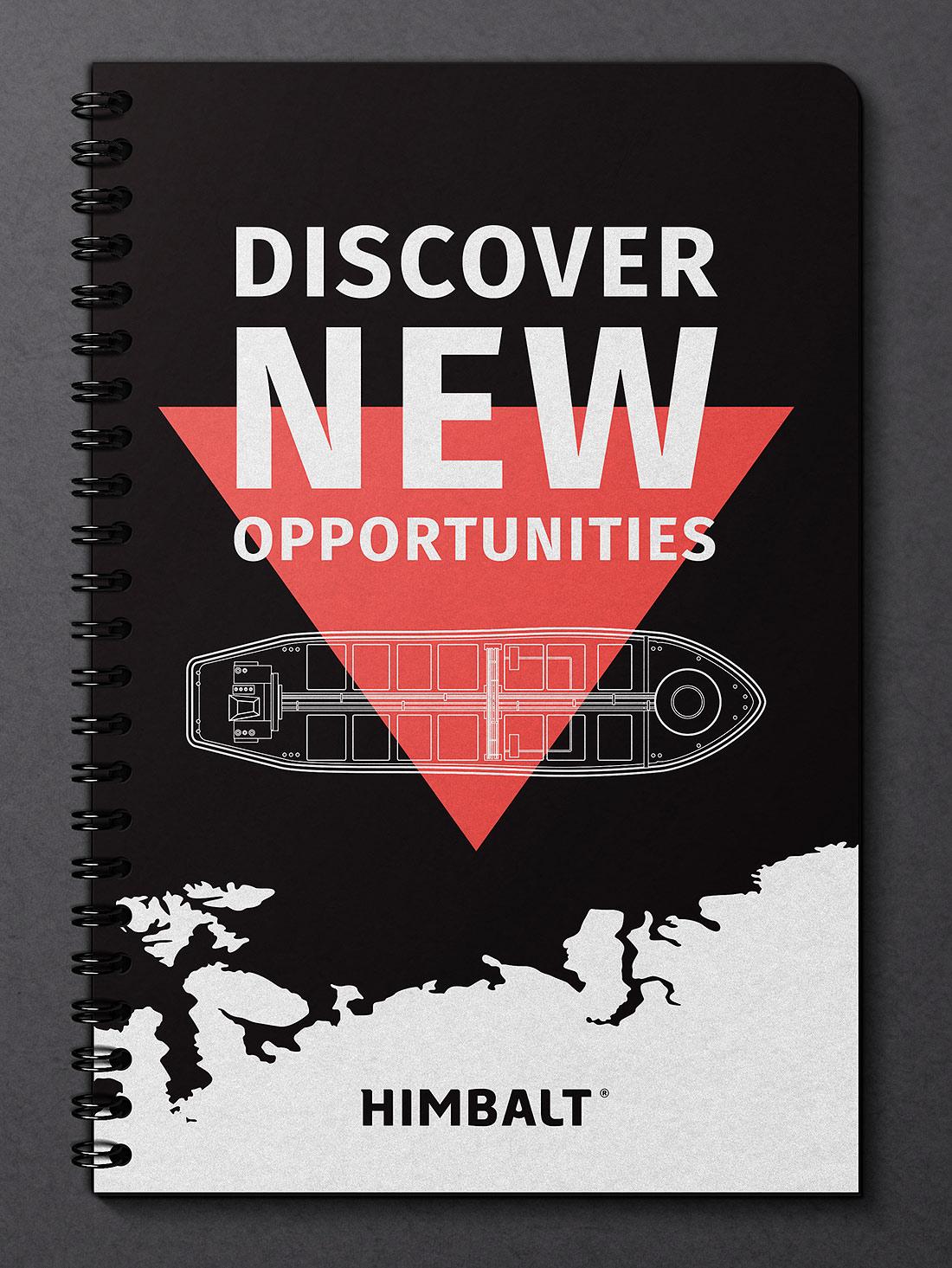 Обложка презентации о нефтепродуктах. Открывая новые возможности Himbalt (Химбалт). Презентация на черной металлической пружине.