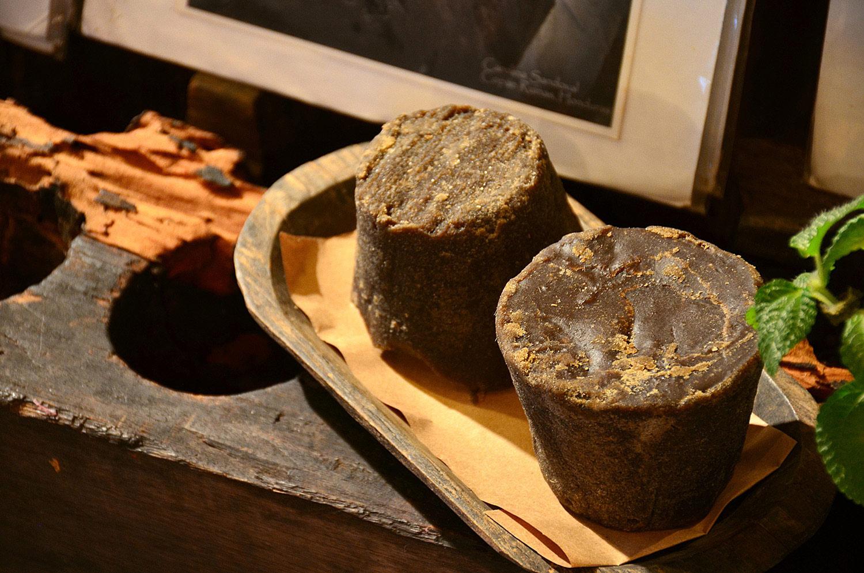 Cane sugar made at home. Homemade sugar. The Tea and Chocolate Place (Copan, Honduras).
