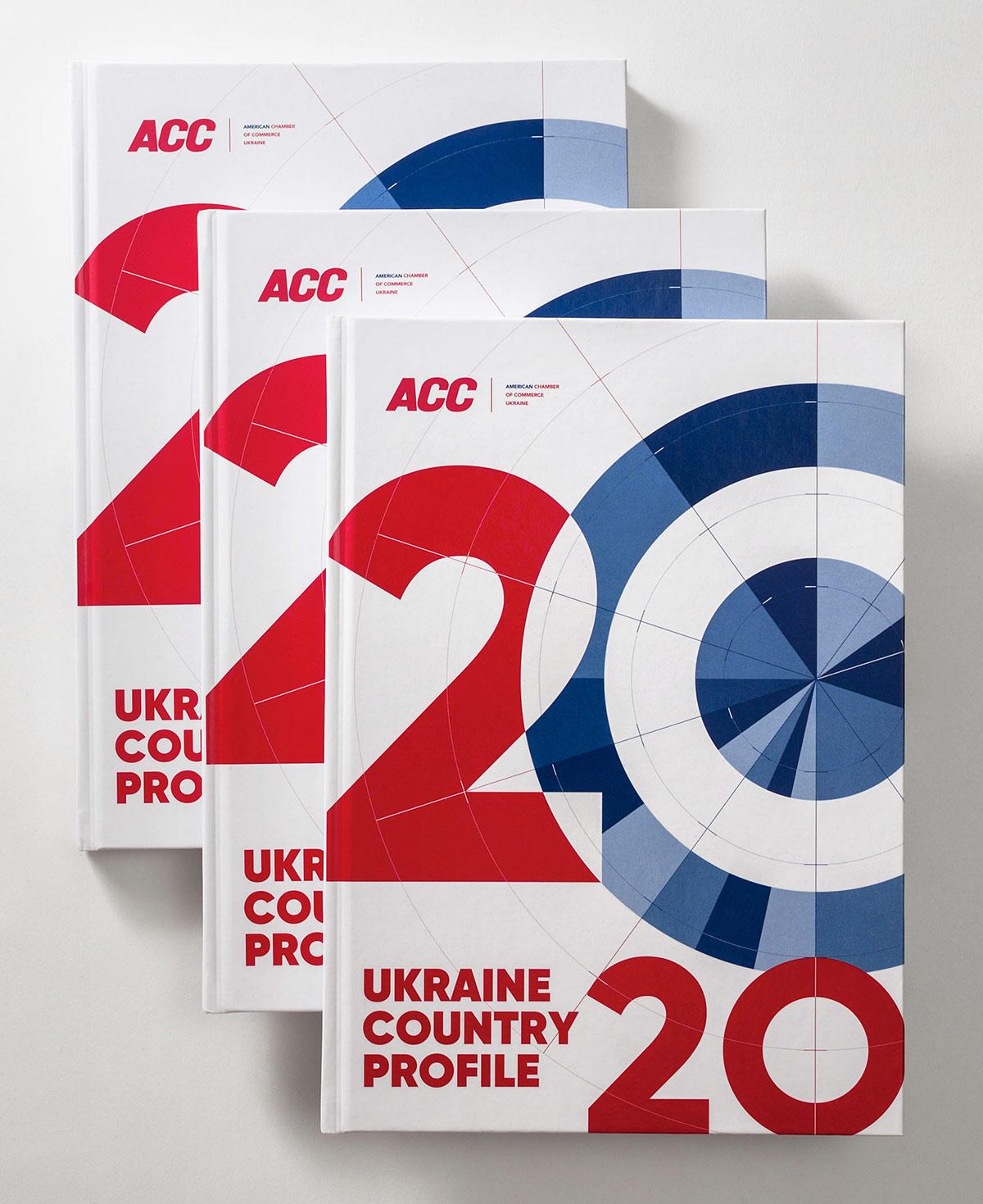 Обложка книги «Обзор экономики Украины» (Ukraine Country Profile) 2020. Американская торговая палата (ACC).