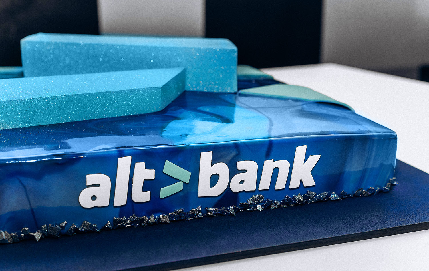 An exclusive cake for bank birthday.
