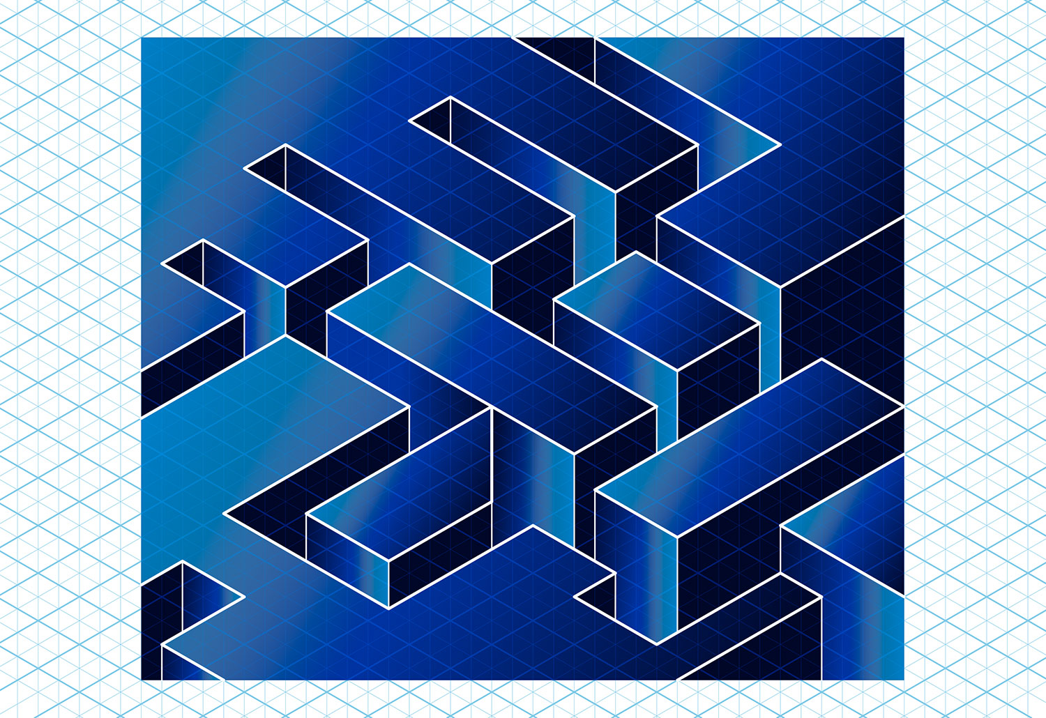 Isometric drawing. Isometric grid design, Altbank isometric logo.
