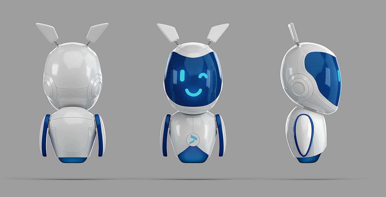 Розробка і дизайн корпоративного персонажа для банку. 3D робот візуалізація (рендер). Альтбанк (Altbank).