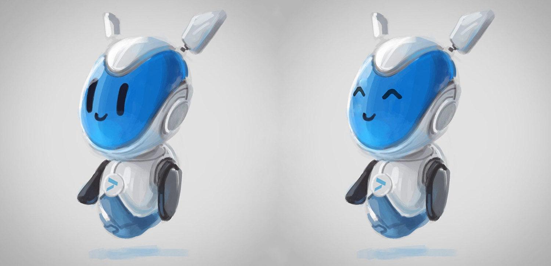 Летючий робот Альт (Alt). Фірмовий персонаж банку Альтбанк (Altbank). Ілюстрація робота.