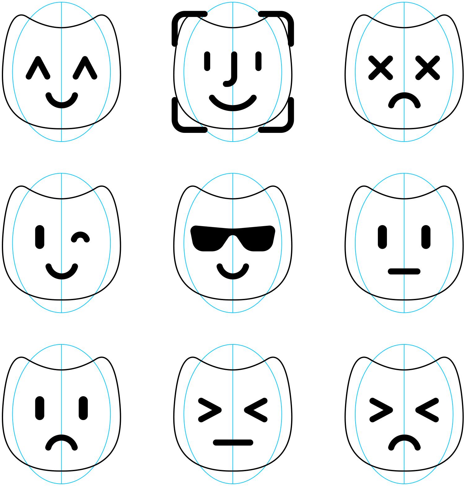 Emotions of the Altbank mobile app robot Alt.