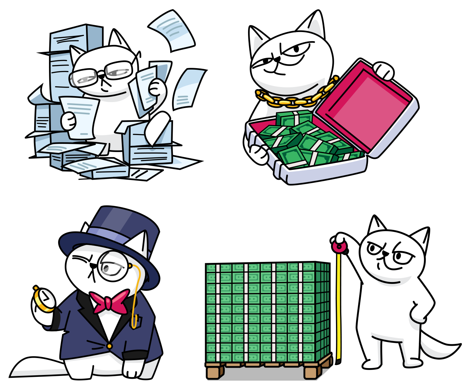 monobank stickers QR cat, drawing stickers with a cat. monobank sticker design for infographics.